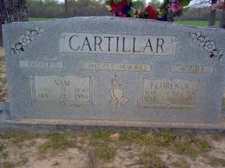 CARTILLAR, FLORENCE - Cross County, Arkansas | FLORENCE CARTILLAR - Arkansas Gravestone Photos
