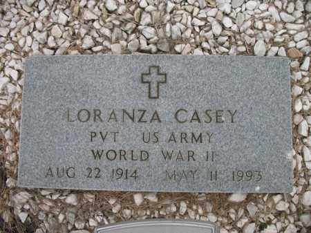 CASEY (VETERAN WWII), LORANZA - Cross County, Arkansas | LORANZA CASEY (VETERAN WWII) - Arkansas Gravestone Photos