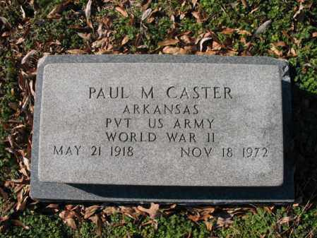 CASTER (VETERAN WWII), PAUL M - Cross County, Arkansas | PAUL M CASTER (VETERAN WWII) - Arkansas Gravestone Photos