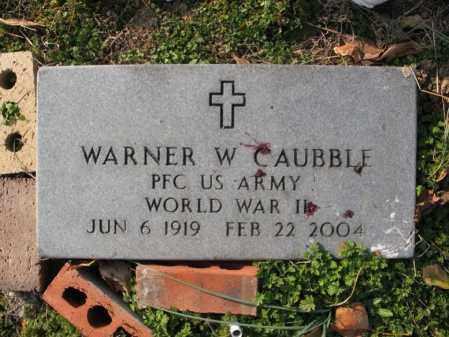 CAUBBLE (VETERAN WWII), WARNER WALTER - Cross County, Arkansas | WARNER WALTER CAUBBLE (VETERAN WWII) - Arkansas Gravestone Photos