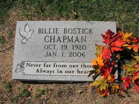 BOSTICK CHAPMAN, BILLIE M - Cross County, Arkansas | BILLIE M BOSTICK CHAPMAN - Arkansas Gravestone Photos