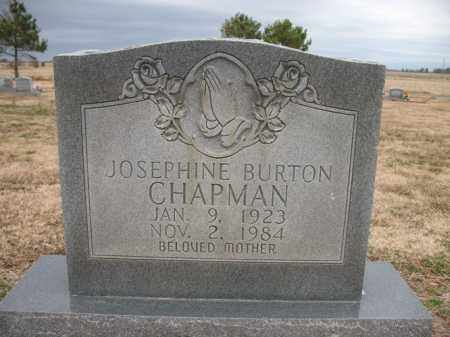 BURTON CHAPMAN, JOSEPHINE - Cross County, Arkansas | JOSEPHINE BURTON CHAPMAN - Arkansas Gravestone Photos