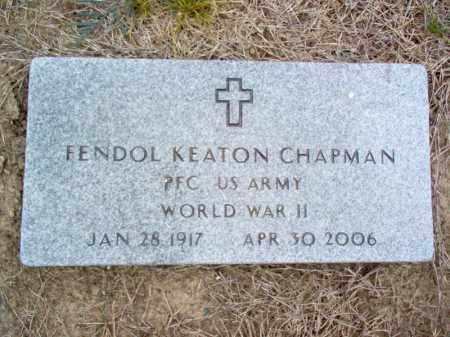 CHAPMAN (VETERAN WWII), FENDOL KEATON - Cross County, Arkansas | FENDOL KEATON CHAPMAN (VETERAN WWII) - Arkansas Gravestone Photos