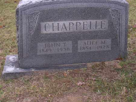 CHAPPELLE, ALICE M - Cross County, Arkansas | ALICE M CHAPPELLE - Arkansas Gravestone Photos