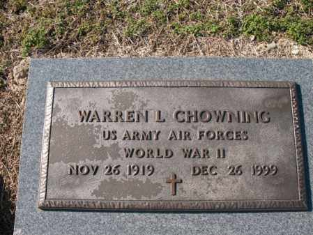 CHOWNING (VETERAN WWII), WARREN L - Cross County, Arkansas | WARREN L CHOWNING (VETERAN WWII) - Arkansas Gravestone Photos