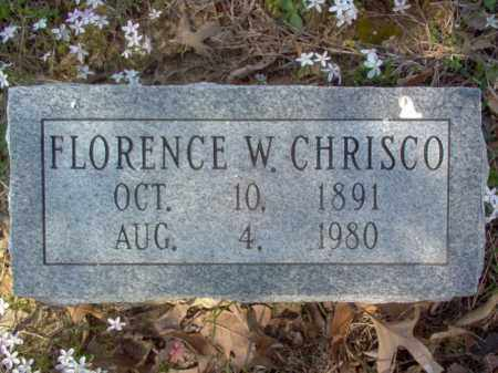 CHRISCO, FLORENCE W - Cross County, Arkansas | FLORENCE W CHRISCO - Arkansas Gravestone Photos