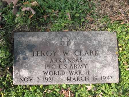 CLARK  (VETERAN WWII), LEROY W - Cross County, Arkansas | LEROY W CLARK  (VETERAN WWII) - Arkansas Gravestone Photos