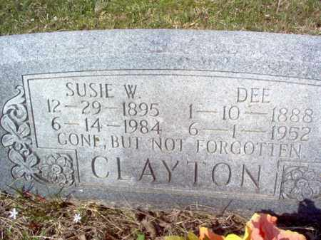 CLAYTON, SUSIE W - Cross County, Arkansas | SUSIE W CLAYTON - Arkansas Gravestone Photos