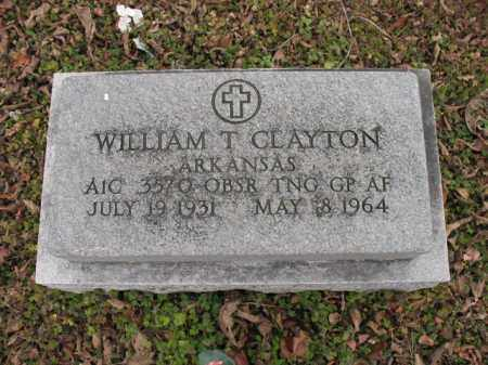 CLAYTON (VETERAN), WILLIAM T - Cross County, Arkansas | WILLIAM T CLAYTON (VETERAN) - Arkansas Gravestone Photos