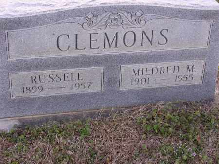 CLEMONS, RUSSELL - Cross County, Arkansas | RUSSELL CLEMONS - Arkansas Gravestone Photos