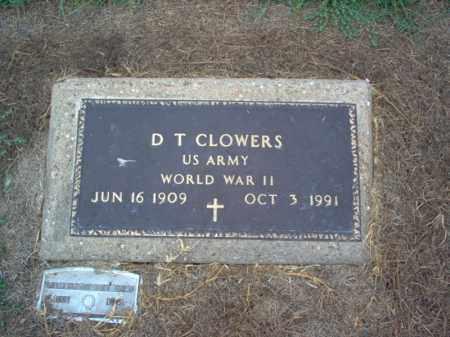 CLOWERS (VETERAN WWII), D T - Cross County, Arkansas | D T CLOWERS (VETERAN WWII) - Arkansas Gravestone Photos