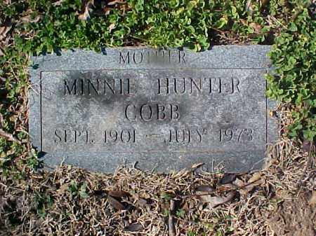 HUNTER COBB, MINNIE - Cross County, Arkansas | MINNIE HUNTER COBB - Arkansas Gravestone Photos