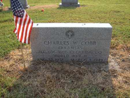 COBB (VETERAN WWII), CHARLES W - Cross County, Arkansas | CHARLES W COBB (VETERAN WWII) - Arkansas Gravestone Photos