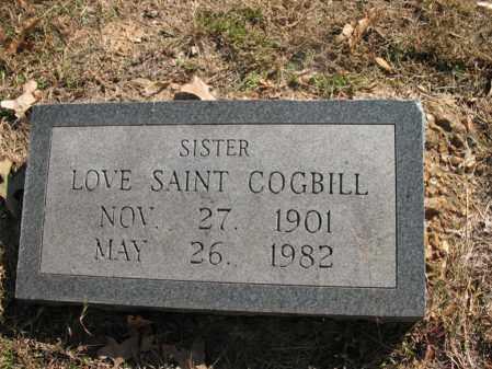 COGBILL, LOVE SAINT - Cross County, Arkansas | LOVE SAINT COGBILL - Arkansas Gravestone Photos