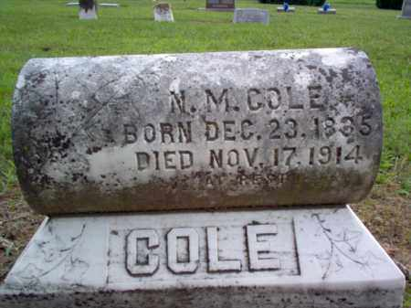 COLE, N M - Cross County, Arkansas | N M COLE - Arkansas Gravestone Photos