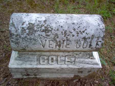 COLE, VENIE - Cross County, Arkansas | VENIE COLE - Arkansas Gravestone Photos