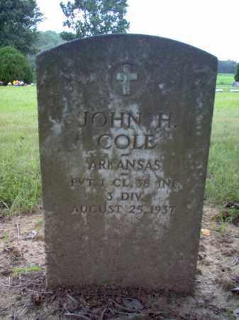 COLE (VETERAN), JOHN H - Cross County, Arkansas | JOHN H COLE (VETERAN) - Arkansas Gravestone Photos