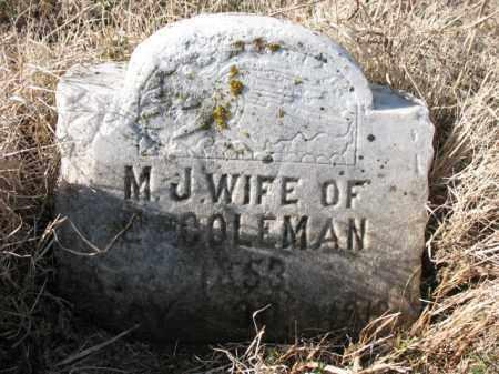 COLEMAN, M J - Cross County, Arkansas | M J COLEMAN - Arkansas Gravestone Photos