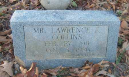 COLLINS, LAWRENCE F - Cross County, Arkansas | LAWRENCE F COLLINS - Arkansas Gravestone Photos
