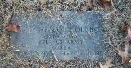 COLLINS (VETERAN KOR), JOE HENRY - Cross County, Arkansas | JOE HENRY COLLINS (VETERAN KOR) - Arkansas Gravestone Photos