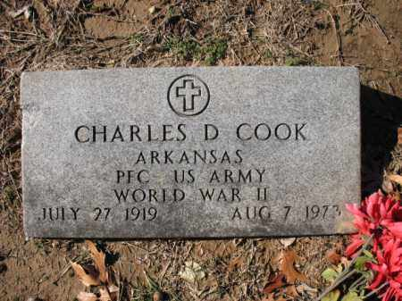 COOK (VETERAN WWII), CHARLES C - Cross County, Arkansas | CHARLES C COOK (VETERAN WWII) - Arkansas Gravestone Photos