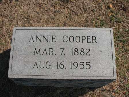 COOPER, ANNIE - Cross County, Arkansas | ANNIE COOPER - Arkansas Gravestone Photos
