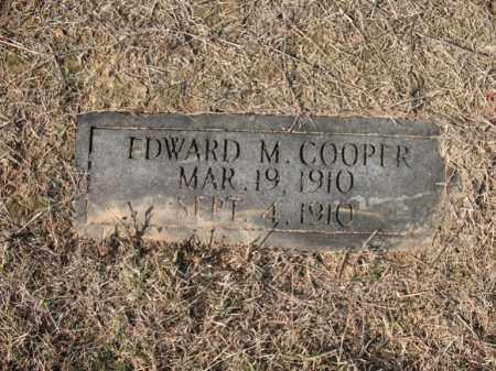 COOPER, EDWARD M - Cross County, Arkansas | EDWARD M COOPER - Arkansas Gravestone Photos