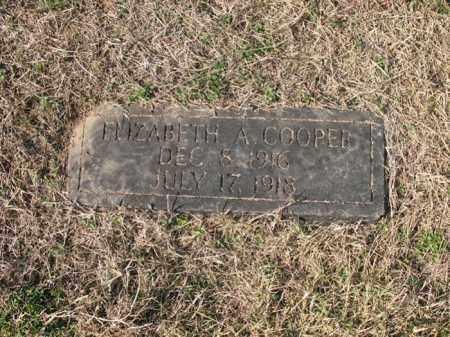 COOPER, ELIZABETH A - Cross County, Arkansas   ELIZABETH A COOPER - Arkansas Gravestone Photos