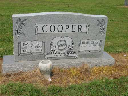 COOPER, SR., FAY GORDON - Cross County, Arkansas | FAY GORDON COOPER, SR. - Arkansas Gravestone Photos