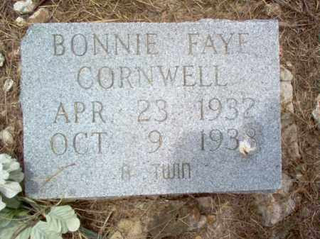 CORNWELL, BONNIE FAYE - Cross County, Arkansas | BONNIE FAYE CORNWELL - Arkansas Gravestone Photos