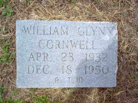 CORNWELL, WILLIAM GLYNN - Cross County, Arkansas | WILLIAM GLYNN CORNWELL - Arkansas Gravestone Photos