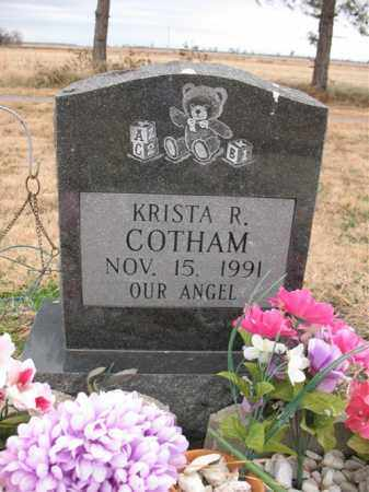 COTHAM, KRISTA R - Cross County, Arkansas | KRISTA R COTHAM - Arkansas Gravestone Photos