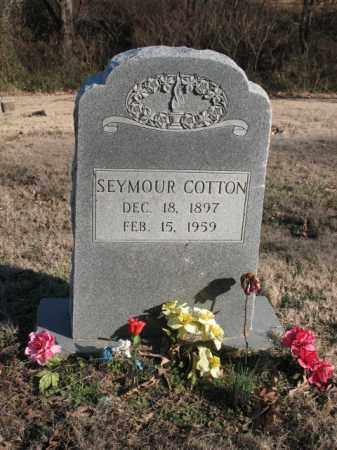 COTTON, SEYMOUR - Cross County, Arkansas | SEYMOUR COTTON - Arkansas Gravestone Photos