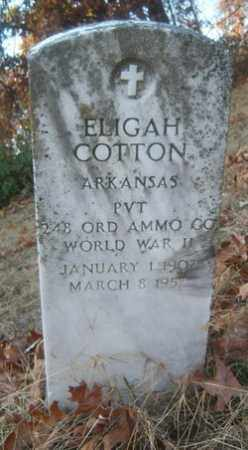 COTTON (VETERAN WWII), ELIGAH - Cross County, Arkansas | ELIGAH COTTON (VETERAN WWII) - Arkansas Gravestone Photos