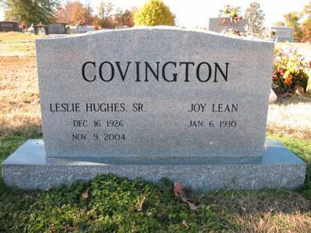 COVINGTON, SR., LESLIE HUGHES - Cross County, Arkansas | LESLIE HUGHES COVINGTON, SR. - Arkansas Gravestone Photos