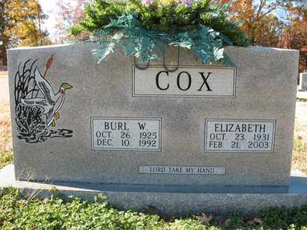 COX, ELIZABETH - Cross County, Arkansas | ELIZABETH COX - Arkansas Gravestone Photos