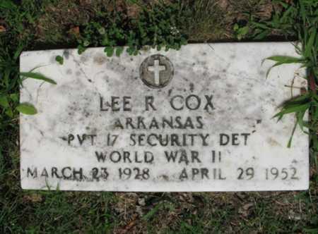 COX  (VETERAN WWII), LEE R - Cross County, Arkansas | LEE R COX  (VETERAN WWII) - Arkansas Gravestone Photos
