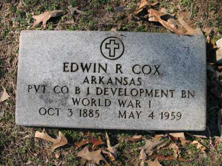 COX (VETERAN WWI), EDWIN R - Cross County, Arkansas | EDWIN R COX (VETERAN WWI) - Arkansas Gravestone Photos