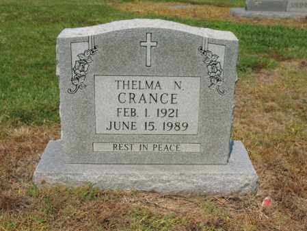 CRANCE, THELMA N - Cross County, Arkansas | THELMA N CRANCE - Arkansas Gravestone Photos