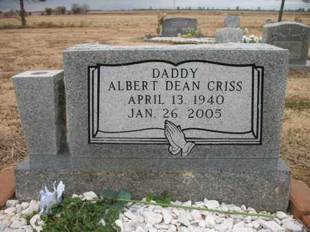 CRISS, ALBERT DEAN - Cross County, Arkansas | ALBERT DEAN CRISS - Arkansas Gravestone Photos