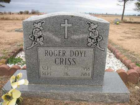 CRISS, ROGER DOYL - Cross County, Arkansas | ROGER DOYL CRISS - Arkansas Gravestone Photos