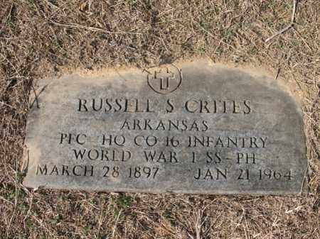 CRITES (VETERAN WWI), RUSSELL S - Cross County, Arkansas | RUSSELL S CRITES (VETERAN WWI) - Arkansas Gravestone Photos