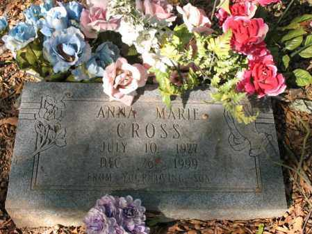 CROSS, ANNA MARIE - Cross County, Arkansas | ANNA MARIE CROSS - Arkansas Gravestone Photos