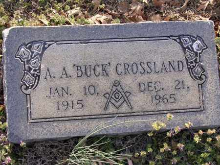 "CROSSLAND, A A ""BUCK"" - Cross County, Arkansas 