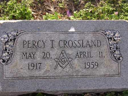 CROSSLAND, PERCY T - Cross County, Arkansas | PERCY T CROSSLAND - Arkansas Gravestone Photos