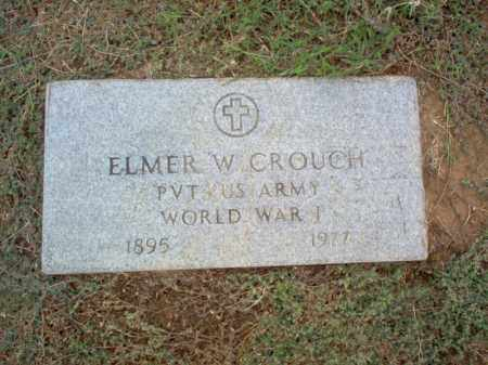 CROUCH (VETERAN WWI), ELMER W - Cross County, Arkansas | ELMER W CROUCH (VETERAN WWI) - Arkansas Gravestone Photos