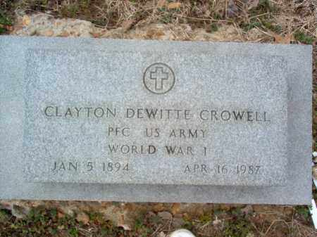 CROWELL (VETERAN WWI), CLAYTON DEWITTE - Cross County, Arkansas | CLAYTON DEWITTE CROWELL (VETERAN WWI) - Arkansas Gravestone Photos