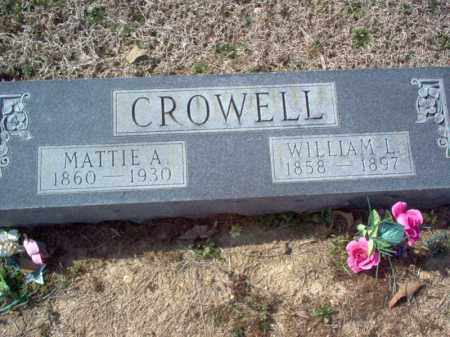 CROWELL, WILLIAM L - Cross County, Arkansas | WILLIAM L CROWELL - Arkansas Gravestone Photos