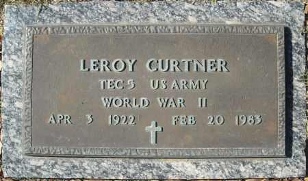CURTNER (VETERAN WWII), LEROY - Cross County, Arkansas | LEROY CURTNER (VETERAN WWII) - Arkansas Gravestone Photos