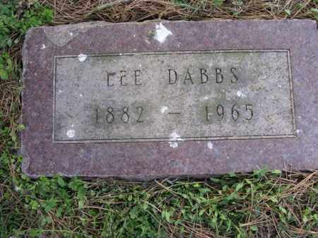 DABBS, LEE - Cross County, Arkansas | LEE DABBS - Arkansas Gravestone Photos